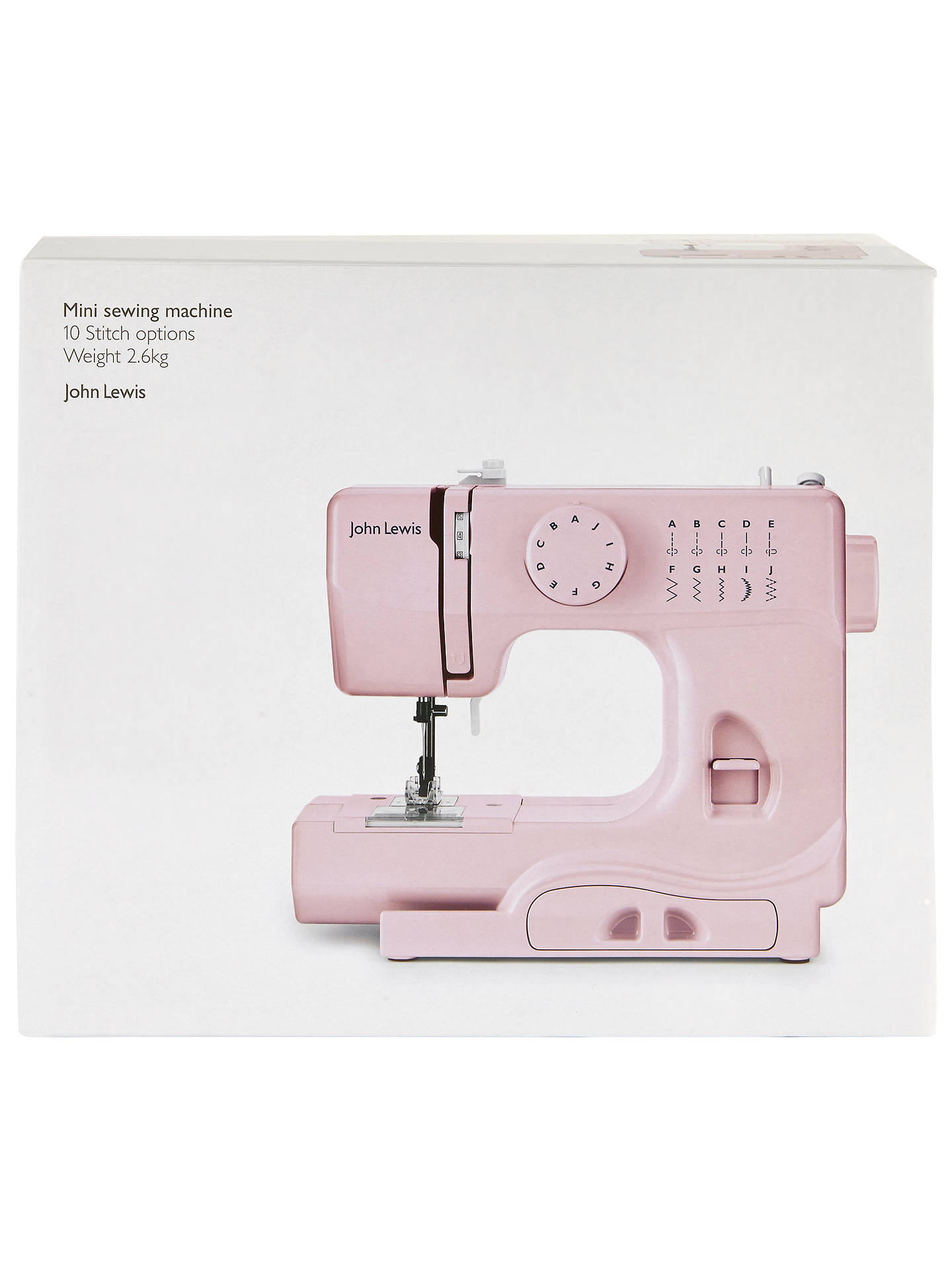BuyJohn Lewis Mini Sewing Machine, Dusty Pink Online at johnlewis.com