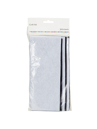 Buy John Lewis & Partners Craft Felt, Pack of 5, Black/White Online at johnlewis.com