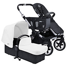 Buy Bugaboo Donkey Base Pushchair Chassis and Carrycot 2016, Black/Aluminium Online at johnlewis.com
