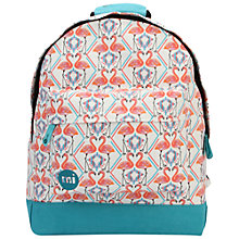 Buy Mi-Pac Flamingos Backpack, White Online at johnlewis.com