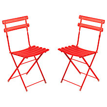 Buy EMU Arcenciel Aluminium Chair, Set of 2, Chilli Online at johnlewis.com