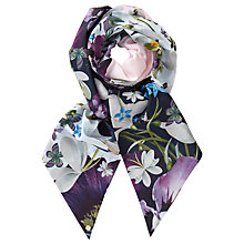 Buy Ted Baker Ebanie Entangled Enchantment Skinny Scarf, Navy/Multi Online at johnlewis.com