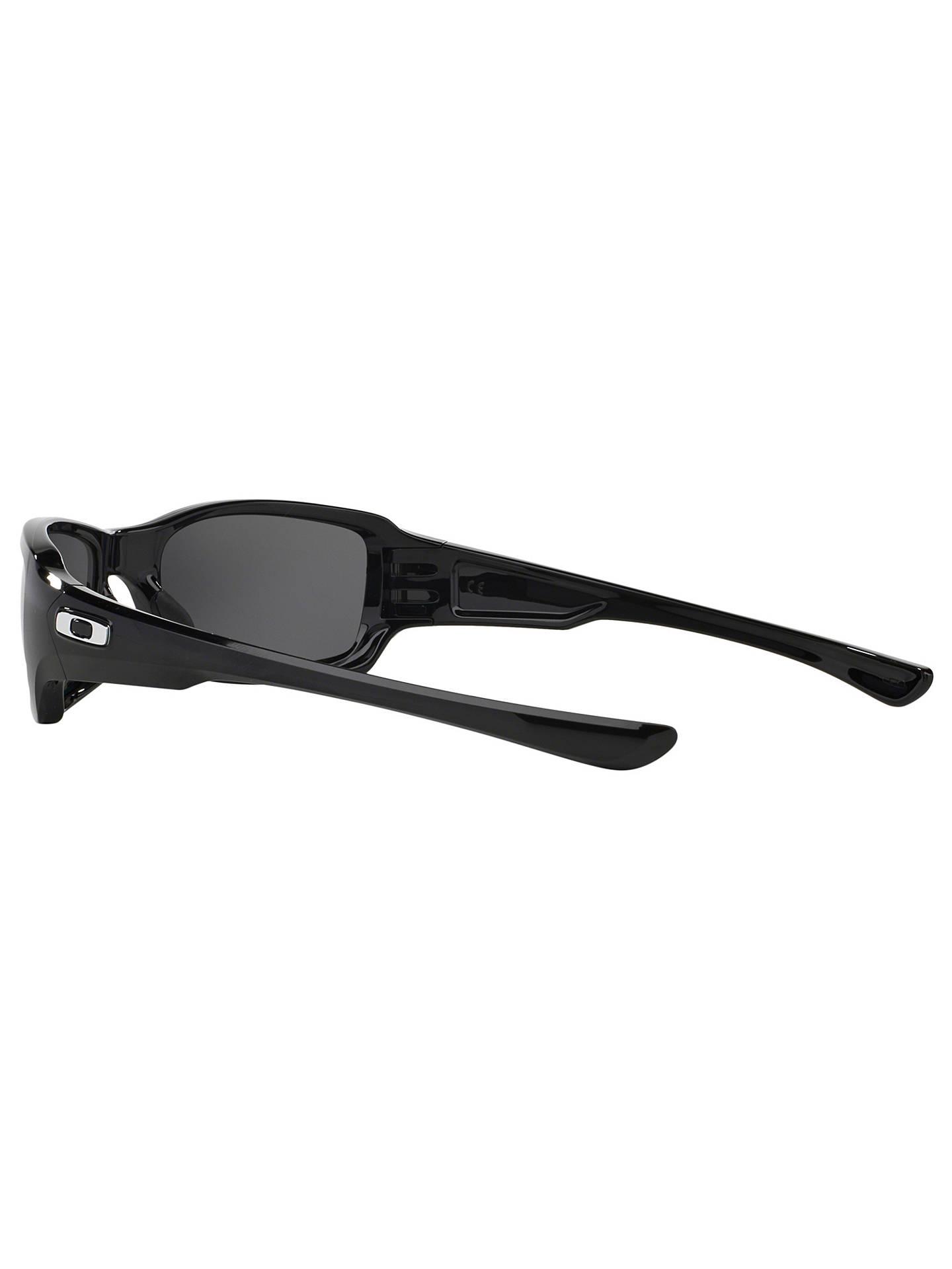 6583fda702a0 ... Buy Oakley OO9238 Fives Squared™ Polarised Rectangular Sunglasses,  Polished Black/Black Iridium Online ...