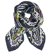 Buy Ted Baker Elodie Entangled Enchantment Square Silk Scarf, Navy/Multi Online at johnlewis.com