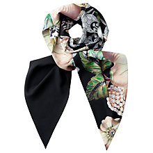 Buy Ted Baker Gem Gardens Skinny Scarf, Ecru/Multi Online at johnlewis.com