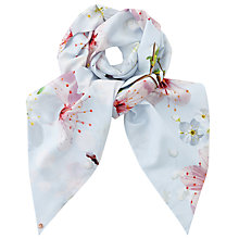 Buy Ted Baker Osma Oriental Blossom Skinny Scarf, Light Grey/Multi Online at johnlewis.com