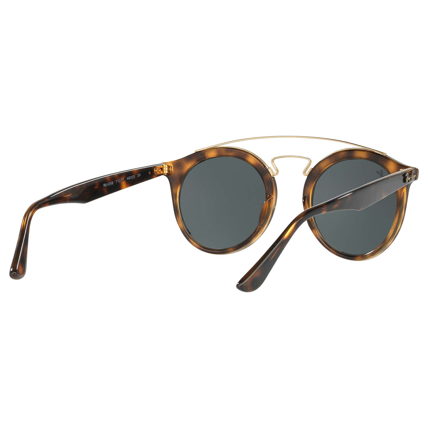 BuyRay-Ban RB4256 Round Sunglasses, Tortoise/Grey Online at johnlewis.com