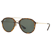 Buy Ray-Ban RB4253 Aviator Sunglasses, Tortoise/Grey Online at johnlewis.com