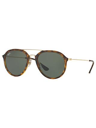 Ray-Ban RB4253 Aviator Sunglasses, Tortoise/Grey