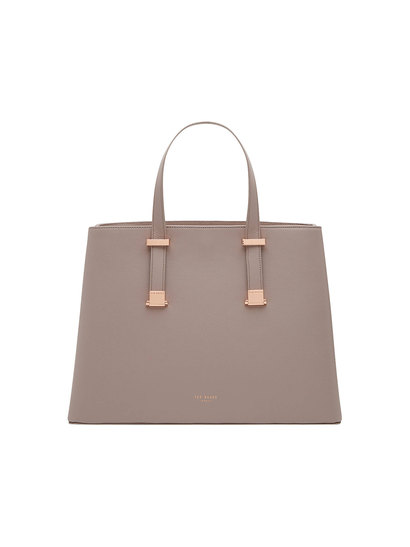 6dd4ae488e8be Ted Baker Alissaa Crosshatch Leather Tote Bag at John Lewis   Partners