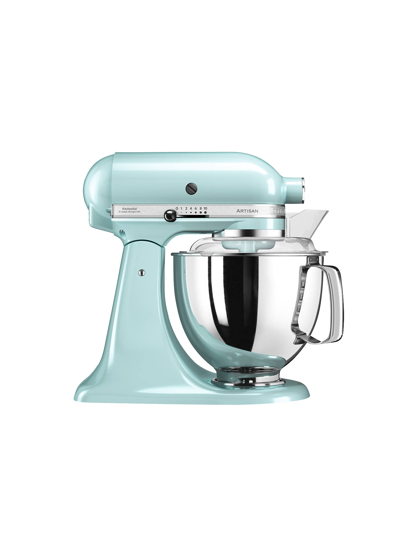 BuyKitchenAid 175 Artisan 4.8L Stand Mixer, Ice Blue Online at johnlewis.com