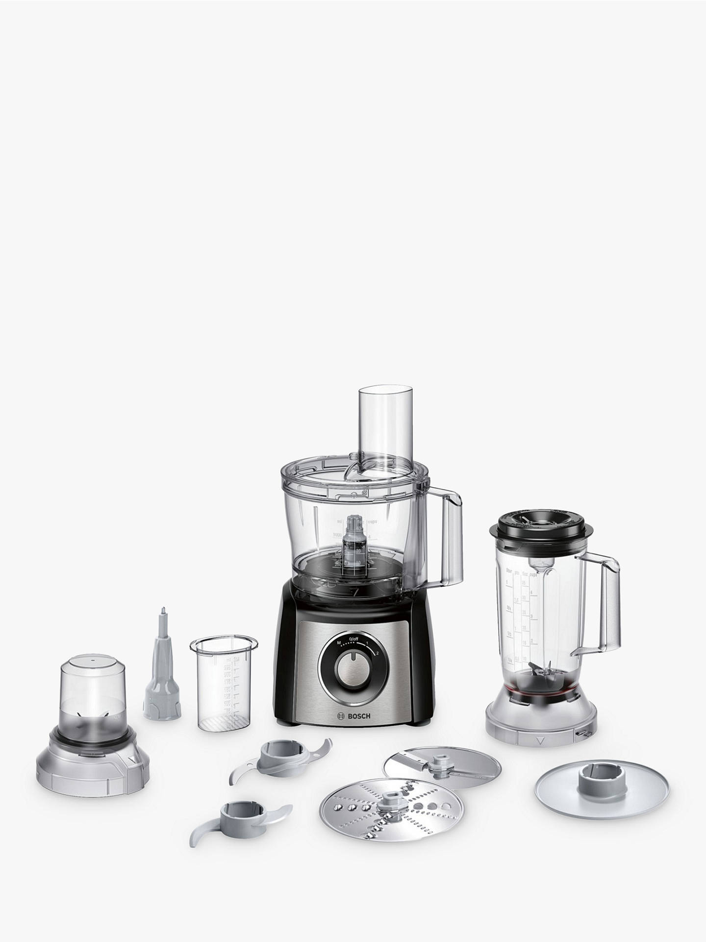BuyBosch MCM3501MGB Food Processor, Black / Stainless Steel Online at johnlewis.com
