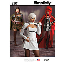 Buy Simplicity Women's Intergalactic Warrior Costume Sewing Pattern, 8201 Online at johnlewis.com