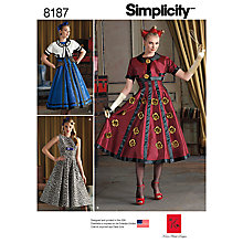 Buy Simplicity Women's Costume Sewing Pattern, 8187 Online at johnlewis.com