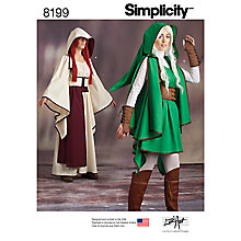 Buy Simplicity Women's Costume Sewing Pattern, 8199 Online at johnlewis.com