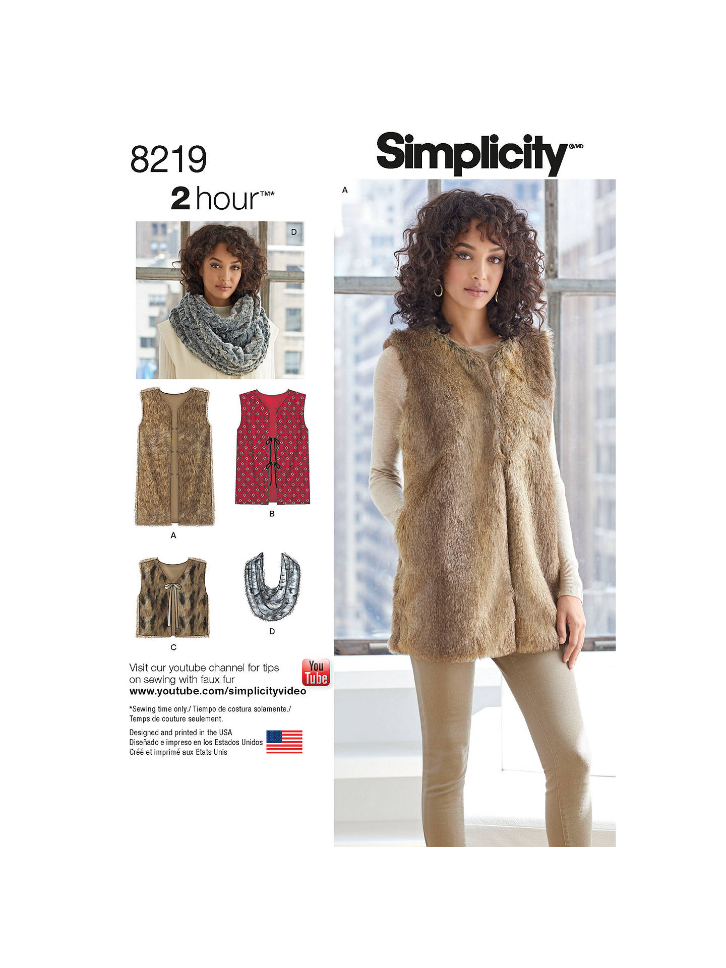 Simplicity Womens Vest Top Sewing Pattern 8219
