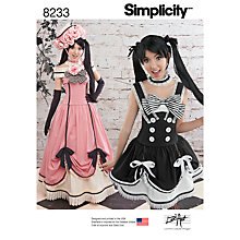 Buy Simplicity Lori Ann Costume Design Sewing Pattern, 8233, R5 Online at johnlewis.com