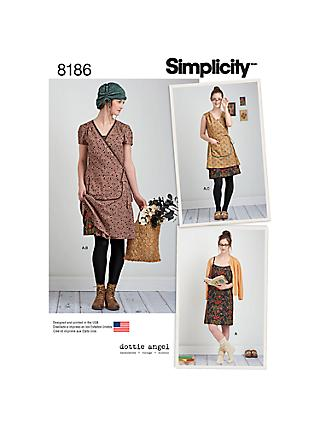 eb1b20fd3f4ed9 Simplicity Dottie Angel Women`s Dress Sewing Pattern, ...