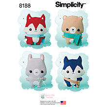 Buy Simplicity Children's Fleece Animal Sewing Pattern, 8188 Online at johnlewis.com