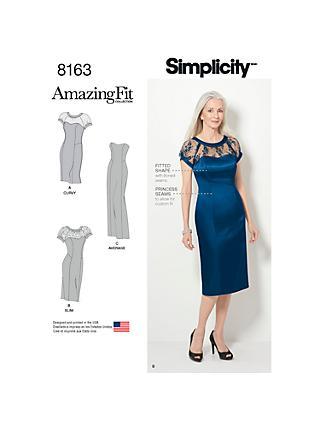 65351f96404 Simplicity Amazing Fit Women s Dress Sewing Pattern