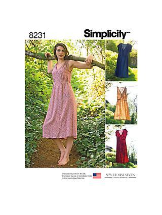 Sewing Patterns | Simplicity & Vogue Patterns | John Lewis & Partners