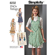 Buy Simplicity Craft Sewing Pattern, 8232, A Online at johnlewis.com