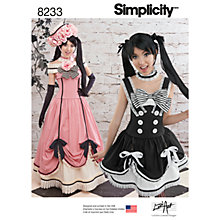 Buy Simplicity Costumes Sewing Pattern, 8241, A Online at johnlewis.com