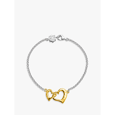Image of Dower & Hall Entwined Love Hearts Bracelet