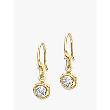 Buy Dower & Hall 18ct Gold Vermeil Round Topaz Dew Drop Earrings, Gold Online at johnlewis.com