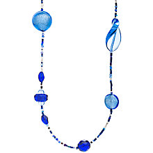 Buy Martick Galaxy Murano Glass and Crystal Long Necklace, Ink/Turquoise Online at johnlewis.com