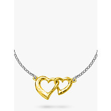 Buy Dower & Hall Sterling Silver Entwined Hearts Pendant Necklace Online at johnlewis.com