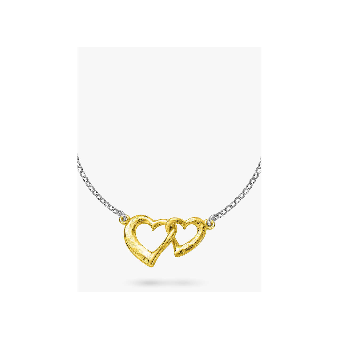 Dower hall sterling silver entwined hearts pendant necklace at buydower hall sterling silver entwined hearts pendant necklace silvergold online at johnlewis mozeypictures Images