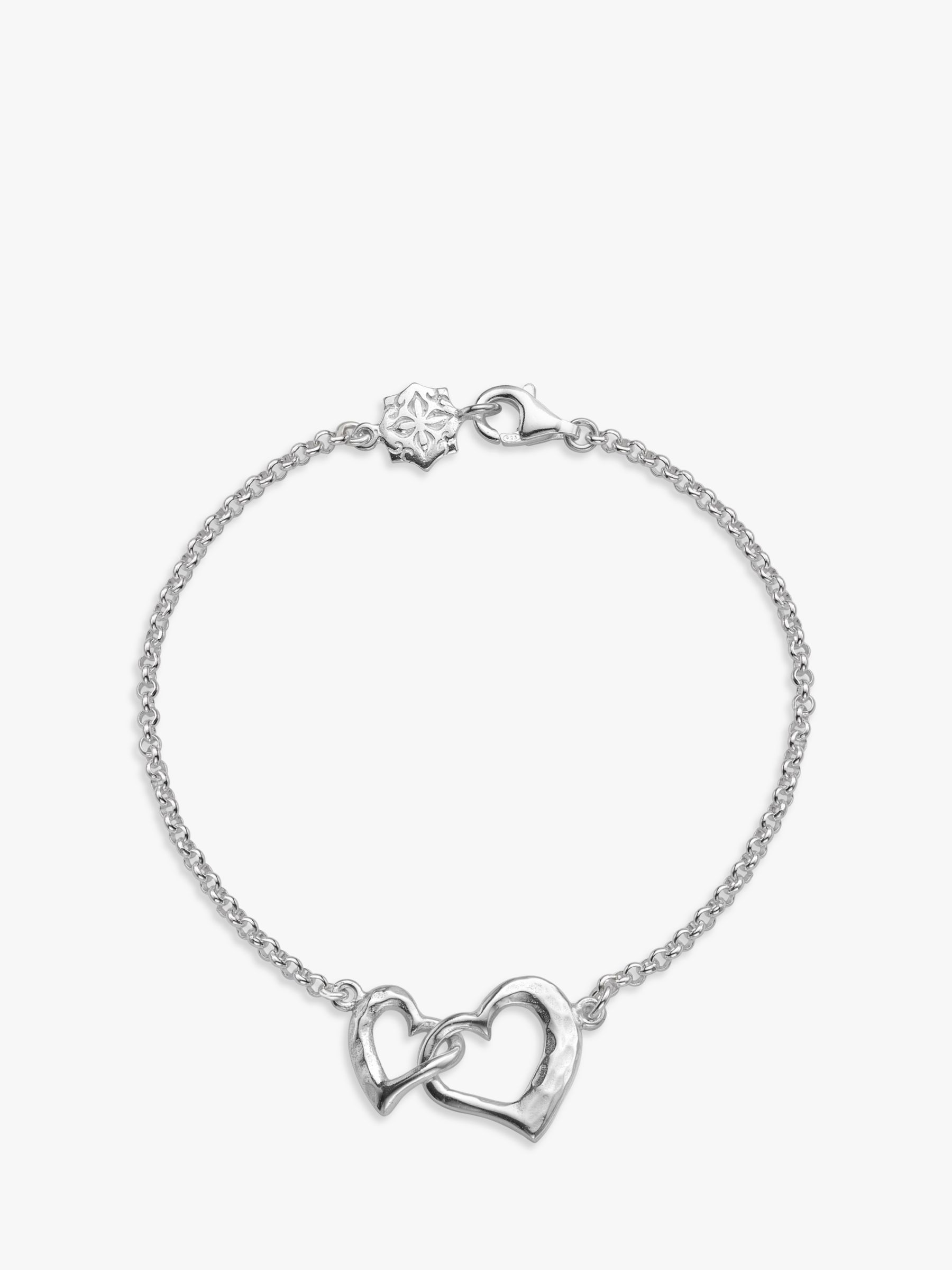 Dower & Hall Dower & Hall Entwined Love Hearts Bracelet