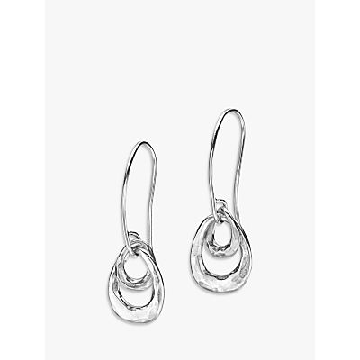 Product photo of Dower hall sterling silver entwined open double oval drop earrings silver