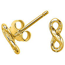 Buy Dower & Hall Entwined Infinity Stud Earrings Online at johnlewis.com