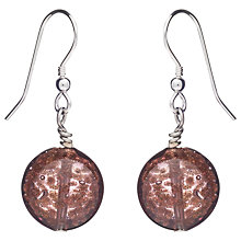 Buy Martick Murano Glass Floating Lentil Hook Drop Earrings Online at johnlewis.com