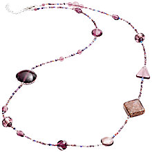 Buy Martick Galaxy Murano Glass and Crystal Long Necklace, Plum Online at johnlewis.com
