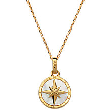 Buy Links of London Mother of Pearl Compass Pendant Necklace, Gold Online at johnlewis.com