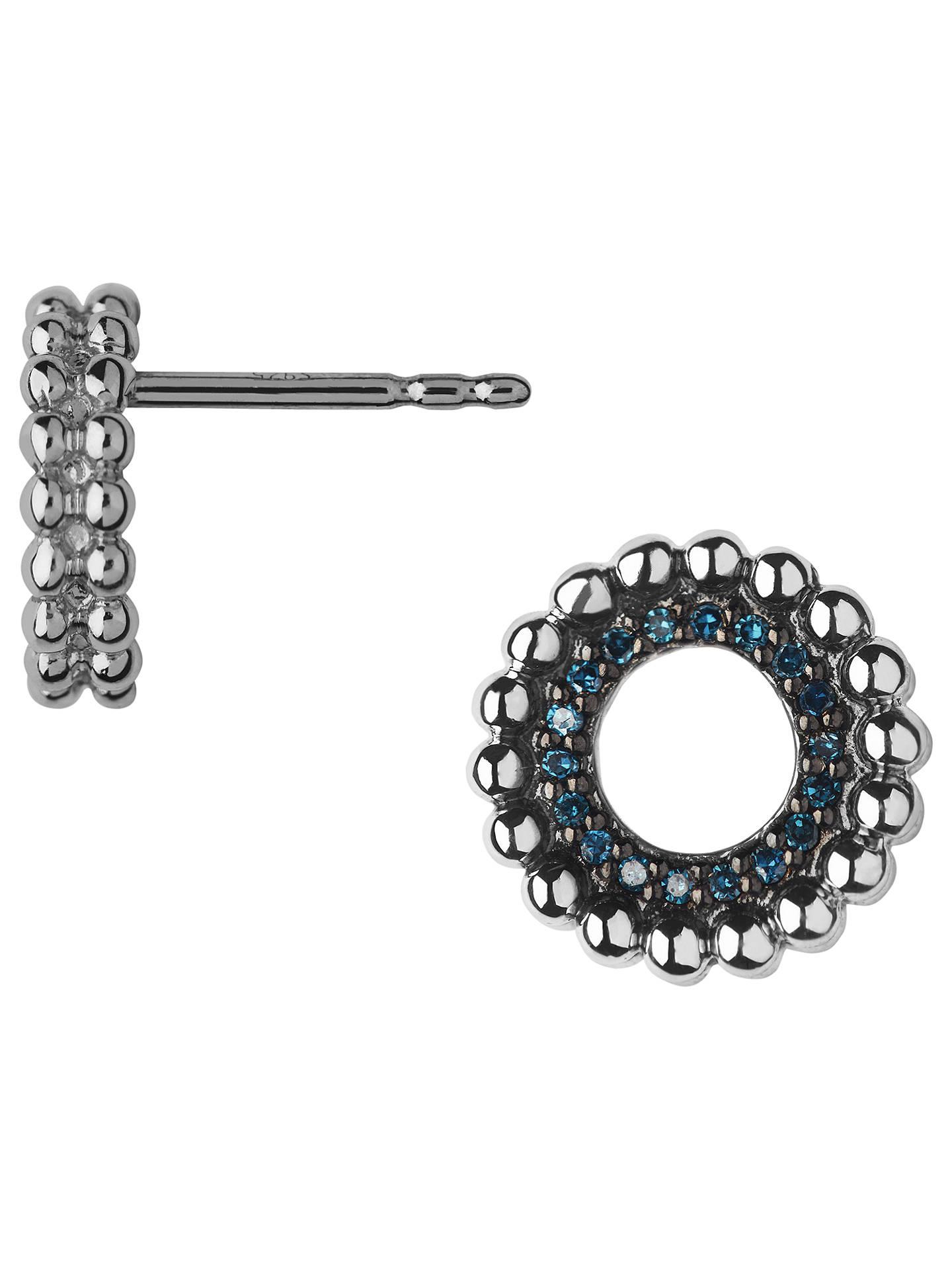 6b76734d9 Buy Links of London Effervescence Diamond Pave Stud Earrings, Silver/Blue  Online at johnlewis ...