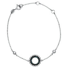 Buy Links of London Effervescence Diamond Pave Bracelet, Silver/Blue Online at johnlewis.com