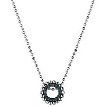 Buy Links of London Effervescence Diamond Pave Mini Pendant Necklace, Silver/Blue Online at johnlewis.com