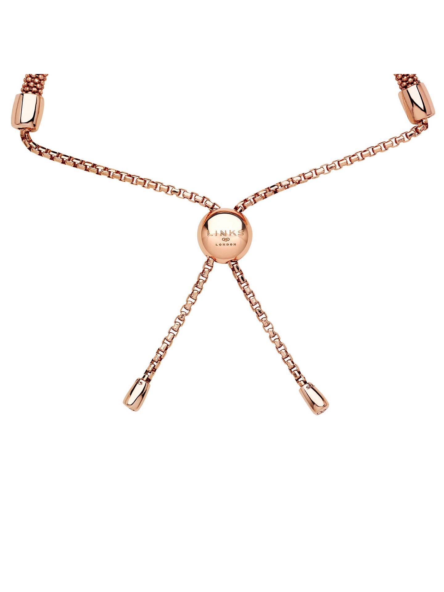 Links Of London Starlight Sterling Silver Adjustable Bracelet At John Lewis Partners