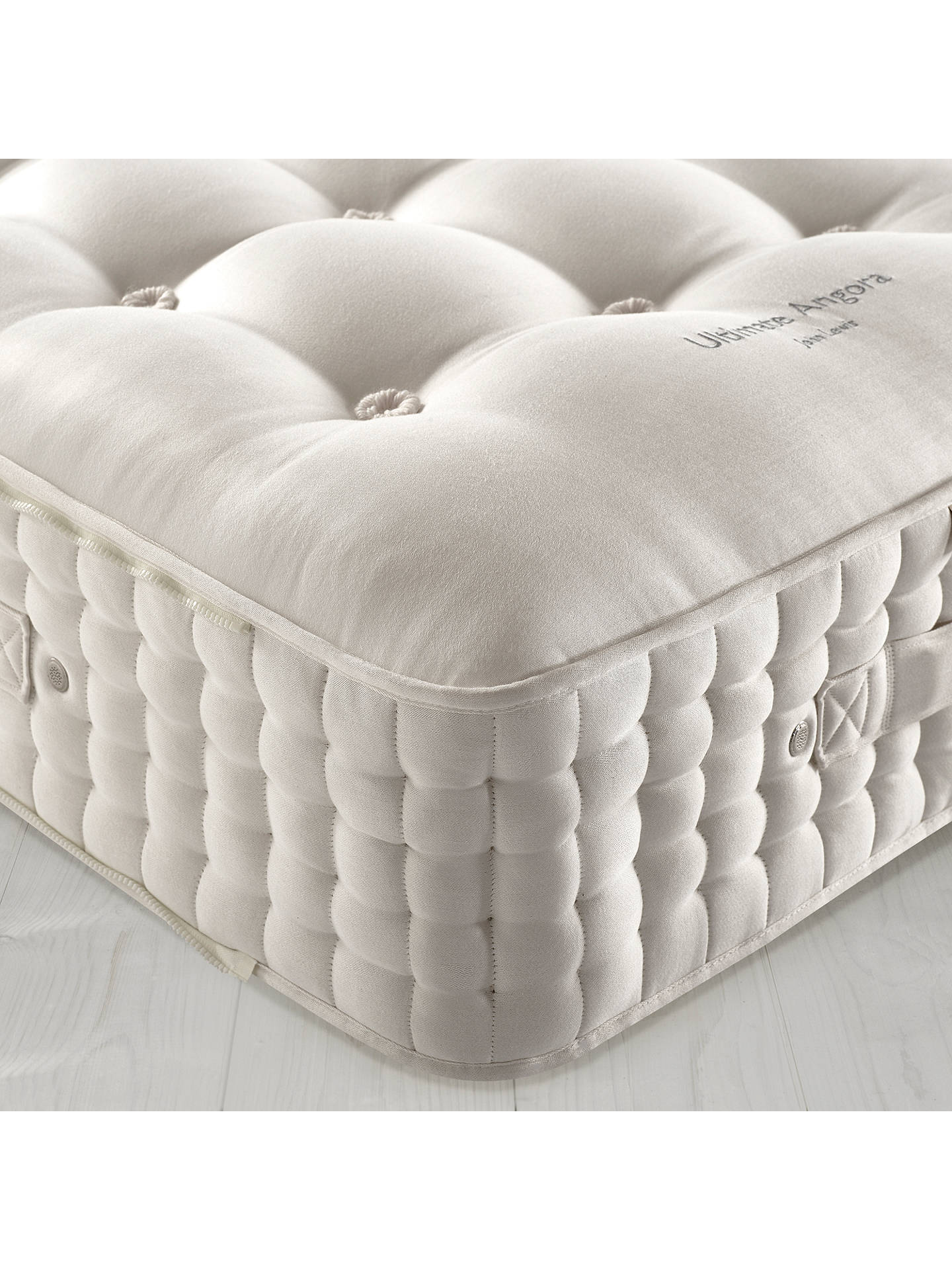 BuyJohn Lewis & Partners The Ultimate Collection Goat Angora Pocket Spring Zip Link Mattress, Medium, Emperor Online at johnlewis.com