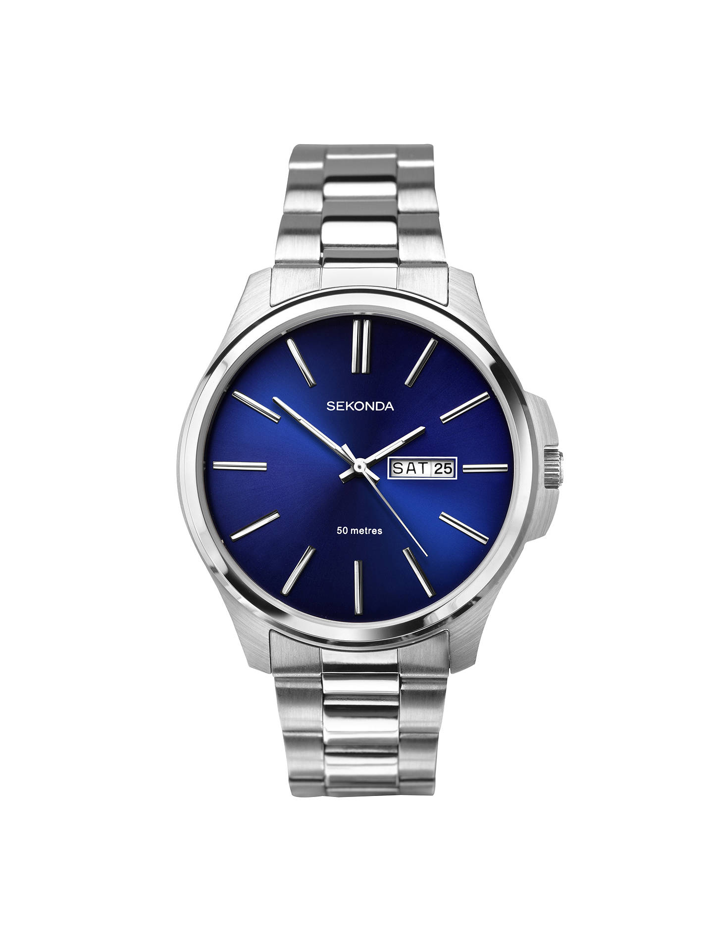 8c402e58e1e7 Sekonda Men s Day Date Bracelet Strap Watch at John Lewis   Partners
