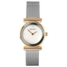 Buy Sekonda 4887.00 Women's Mesh Bracelet Strap Watch, Silver/White Online at johnlewis.com