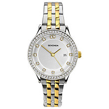 Buy Sekonda 2388.00 Women's Date Two Tone Bracelet Strap Watch, Silver/Gold Online at johnlewis.com
