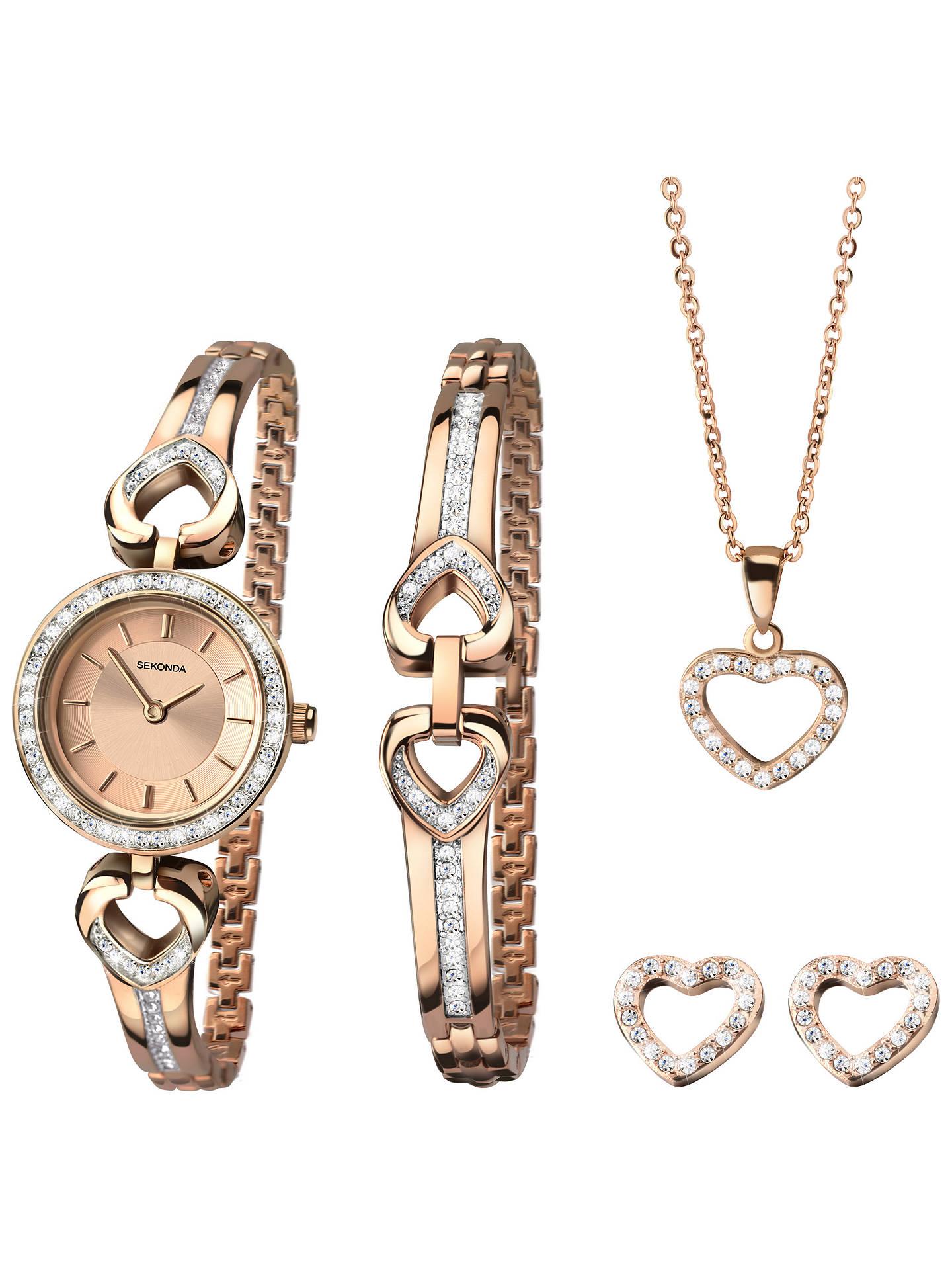 ce4a8e2a01d462 ... Buy Sekonda 2363G Women's Jewellery Strap Watch, Bracelet, Pendant Necklace  and Earrings Gift Set