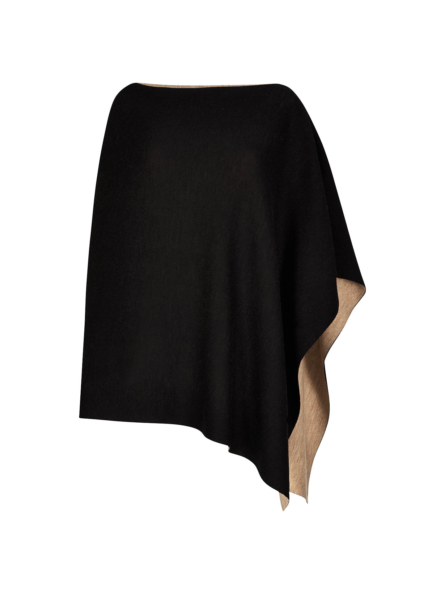 BuyWinser London Merino Wool Reversible Poncho, Camel/Black Online at johnlewis.com