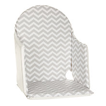 Buy John Lewis Chevron Highchair Insert, Grey Online at johnlewis.com