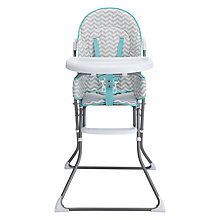 Buy John Lewis Chevron Highchair, Grey Online at johnlewis.com